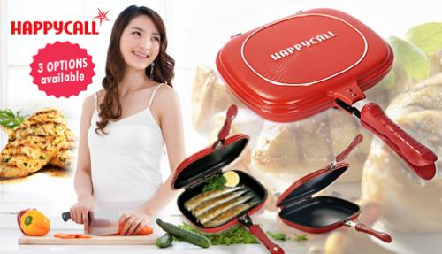 Happy Call Double Sided Foldable Frying Pan Masak Anti Lengket Ditv