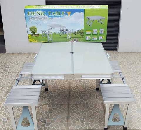 Meja Kursi Makan Lipat Atria Hobbit Portable Folding Picnic Table