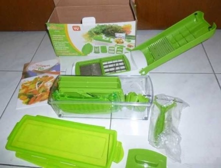 Nicer Genius Dicer Plus As Seen On TV alat pemotong sayur buah didapur praktis