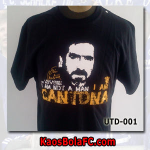 "Kaos Bola Manchester United Eric "" The King"" Cantona"