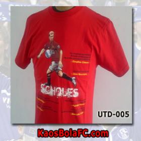 Kaos Bola Manchester United Tribute To Paul Scholes